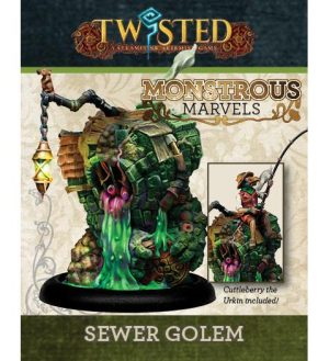 Demented Games Twisted: A Steampunk Skirmish Game  Dickensians Sewer Golem and Cuttleberry Skinn - RDR209 - RDR209
