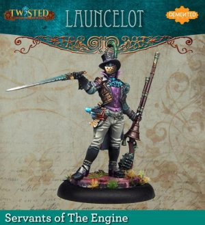 Demented Games Twisted: A Steampunk Skirmish Game  Servants of the Engine Launcelot (Metal) - RSM002 -
