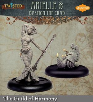 Demented Games Twisted: A Steampunk Skirmish Game  Guild of Harmony Arielle and Bastion the Crab (Metal) - RGM009 -