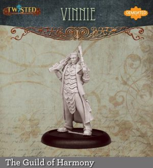 Demented Games Twisted: A Steampunk Skirmish Game  Guild of Harmony Vinnie the Hard Man (Resin) - RGR108 -