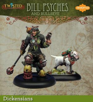 Demented Games Twisted: A Steampunk Skirmish Game  Dickensians Bill Psyches and Bullseye (Metal) - RDM006 -