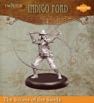 Demented Games Twisted: A Steampunk Skirmish Game  Scions of the Sands Indigo Ford (Resin) - RER004 -