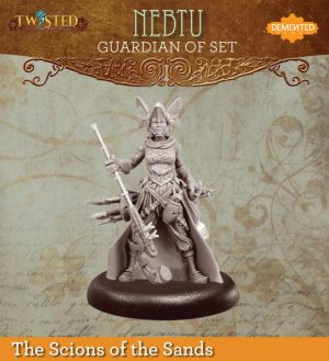 Demented Games Twisted: A Steampunk Skirmish Game  Scions of the Sands Guardian of Set Nomad Nebtu (Metal) - REM103 -