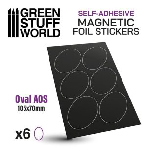 Green Stuff World   Magnets Oval Magnetic Sheet SELF-ADHESIVE - 105x70mm - 8435646503561ES - 8435646503561
