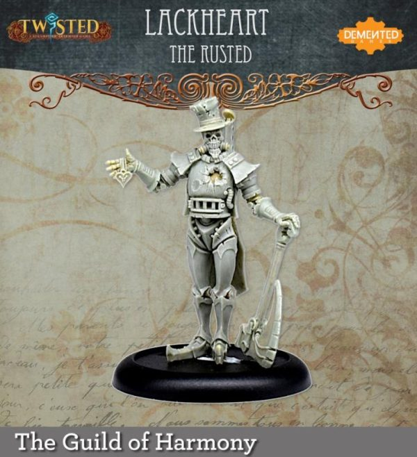 Demented Games Twisted: A Steampunk Skirmish Game  Guild of Harmony Lackheart the Rusted (Metal) - RGM203 - RGM203