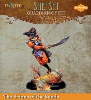 Demented Games Twisted: A Steampunk Skirmish Game  Scions of the Sands Guardian of Set Huntress Shepset (Resin) - RER102 -