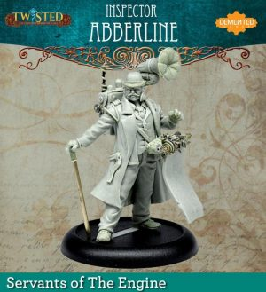 Demented Games Twisted: A Steampunk Skirmish Game  Servants of the Engine Inspector Abberline (Resin) - RER113 -
