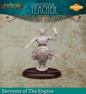 Demented Games Twisted: A Steampunk Skirmish Game  Servants of the Engine Gentlefolk Teacher (Resin) - RSR105 -