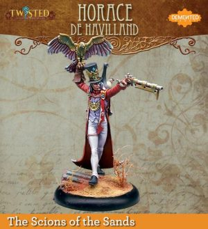Demented Games Twisted: A Steampunk Skirmish Game  Scions of the Sands Horace De Havilland (Resin) - RER005 -